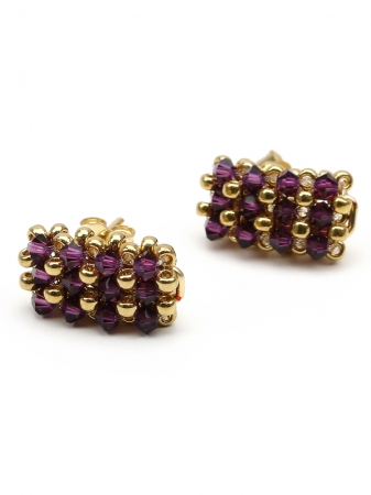 Business Amethyst - earrings