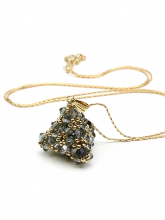 Pyramid Black Diamond - pendant