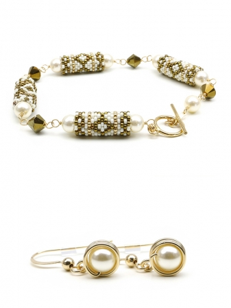 Royal Vintage - bracelet + earrings gift