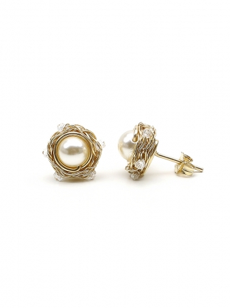 Sweet Cream - stud earrings
