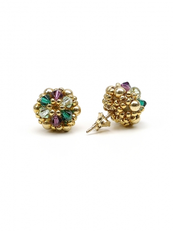 Golden Daisies Special - stud earrings