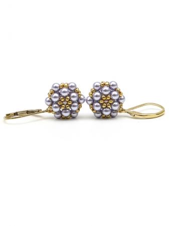 Daisies Lavander - leverback earrings
