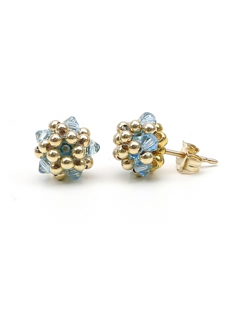 Charm Aquamarine - stud earrings