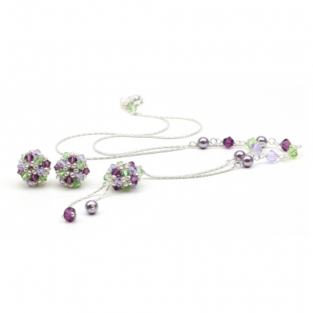 Daisies Free Spirit set - 925 Silver necklace and stud earrings