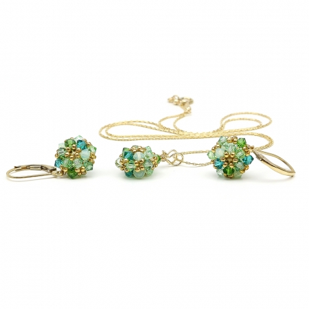 Herba Fresca set - pendant and leverback earrings