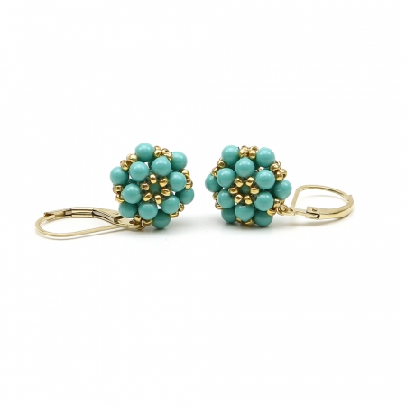 Daisies Jad - leverback earrings