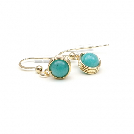 Busted Gemstone Amazonite - earrings