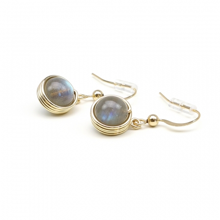 Busted Gemstone Labradorite - earrings