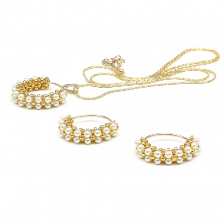 Primetime Pearls Cream set - pendant and earrings