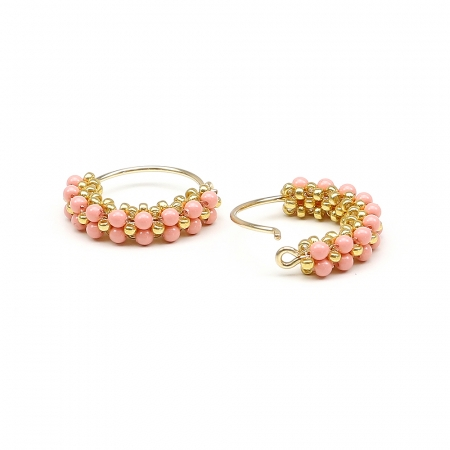 Primetime Pearls Pink Coral - earrings