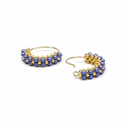 Primetime Pearls Iridescent Dark Blue - earrings