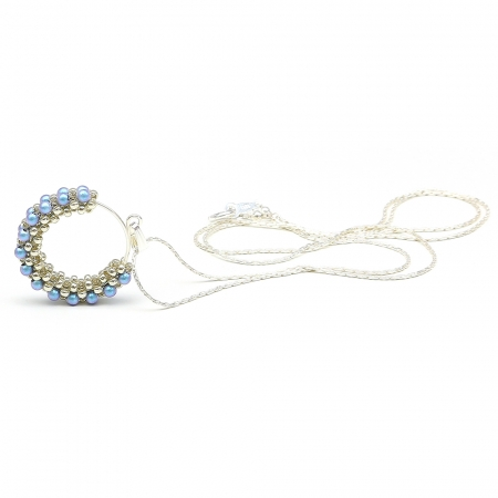 Primetime Pearls Iridescent Light Blue - pendant 925 Silver