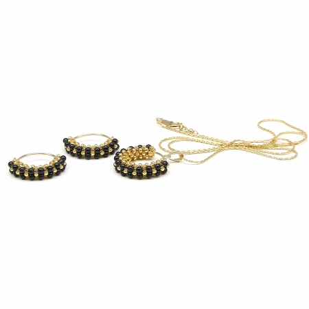 Primetime Pearls Mystic Black set - pendant and earrings