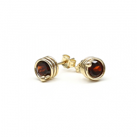 Busted Deluxe Garnet - stud earrings