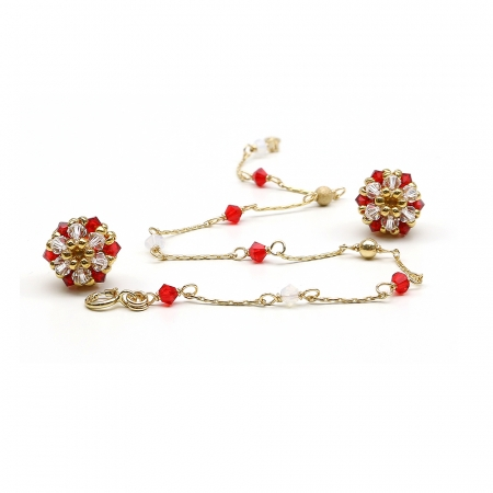 Martisor set - bracelet and stud earrings