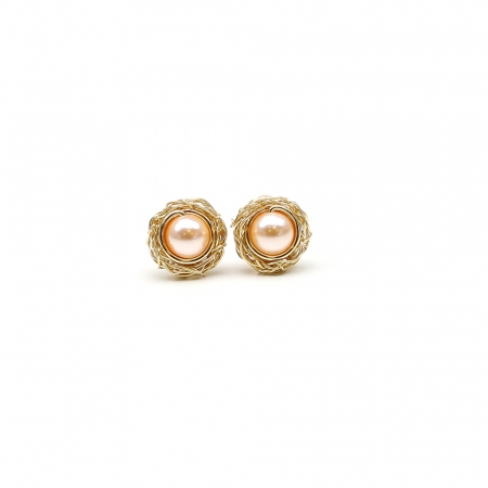 Stud earrings by Ichiban - Sweet Peach