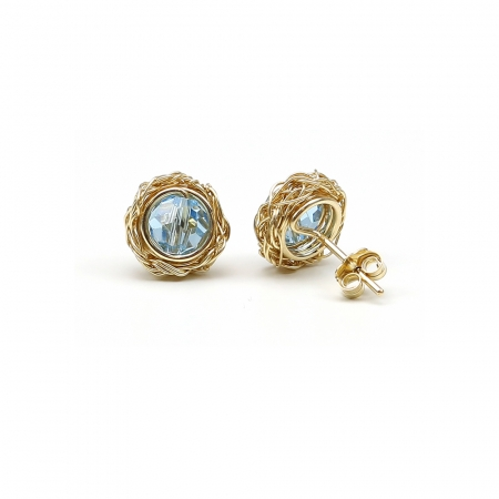 Sweet Aquamarine - stud earrings