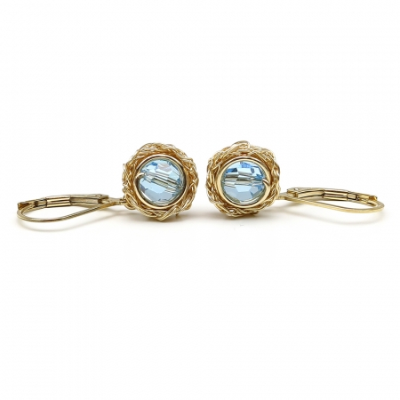 Sweet Aquamarine - leverback earrings