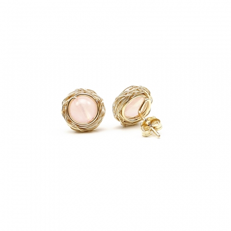 Sweet Quart Rose - stud earrings