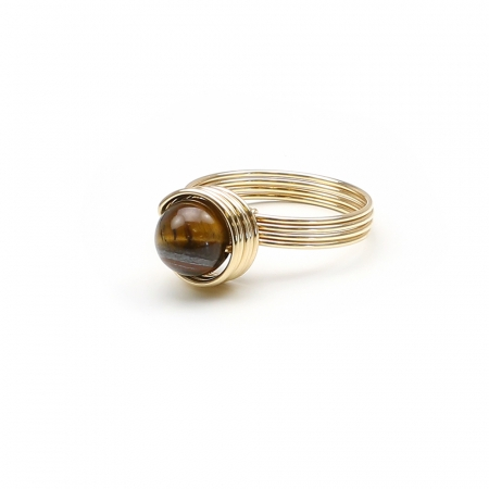 Busted Gemstone Deluxe Tiger's Eye- ring