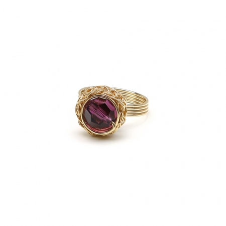 Swarovski crystal ring for women - Sweet Amethyst