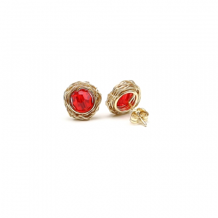 Swarovski crystals stud earrings for women - Sweet Passion