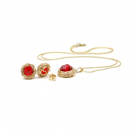 Sweet Passion Set - pendant and stud earrings