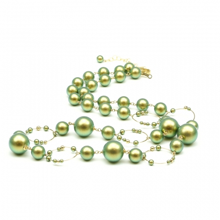 Gravity Iridescent Green - necklace