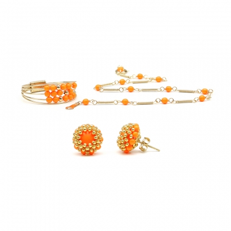 Lady's Summer Set - ring, bracelet and stud earrings