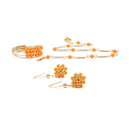 Lady's Summer Set - ring, bracelet and earrings