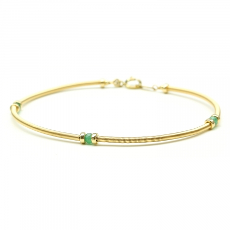 Handmade bracelet for women - green gems - Vogue Emerald