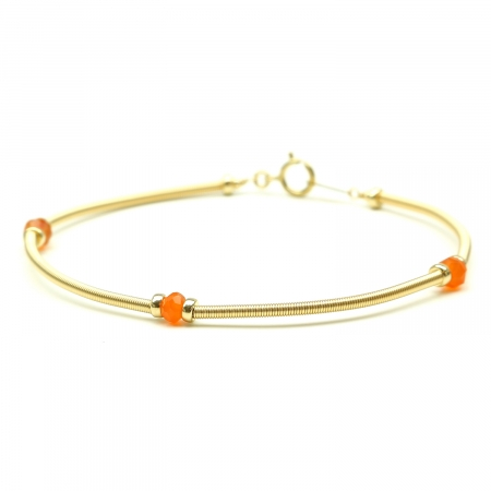 Handmade bracelet for women - orange gems - Vogue Carnelian