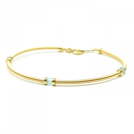 Gemstone bracelet by Ichiban - Vogue Ocean Apatite