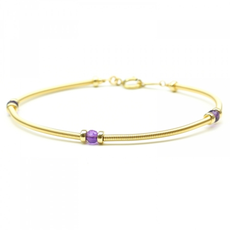 Gemstone bracelet by Ichiban - Vogue Amethyst