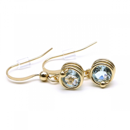 Gemstone earrings for women - Busted Deluxe Gemstone Sky Blue Topaz