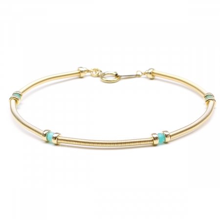 Gemstone bracelet by Ichiban - Vogue Amazonite