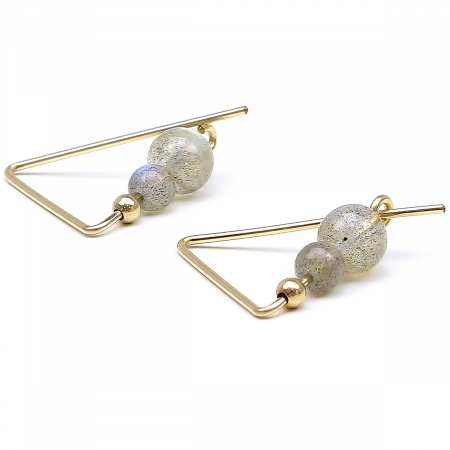 Gemstone earrings by Ichiban - Fancy Labradorite