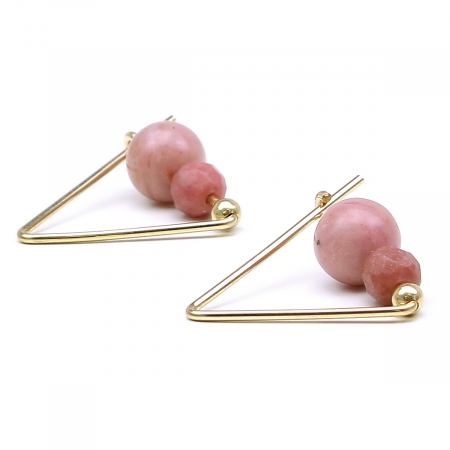 Gemstone earrings by Ichiban - Fancy Rhodonite
