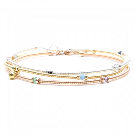 Gemstone set for women - Vogue 3 bracelets set