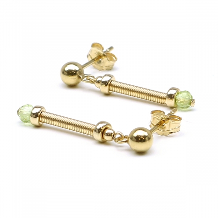 Gemstone stud earrings - for women - Vogue Peridot