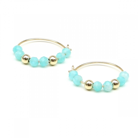 Cercei Ichiban - Simple Style Amazonite AUR14 K