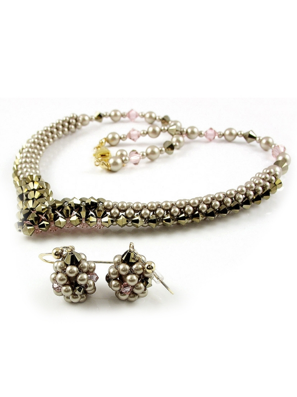 Beauty Vintage set - necklace and earrings