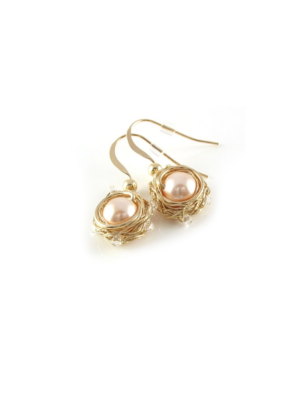 Sweet Peach - earrings