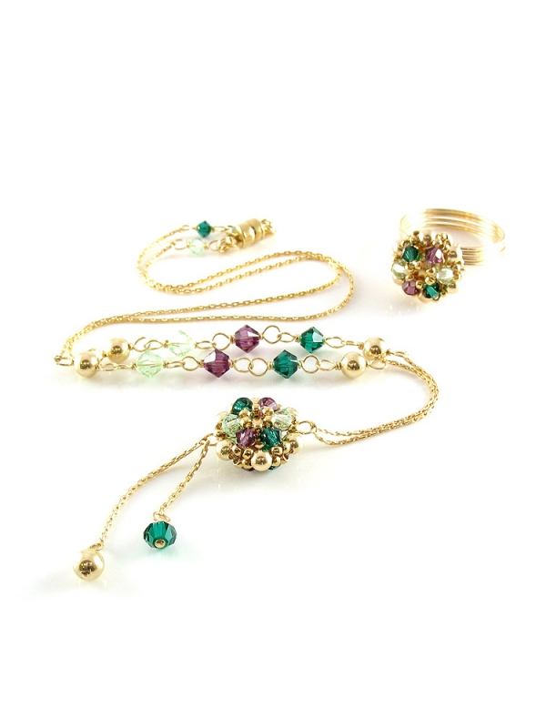 Golden Daisies Special set - necklace and ring