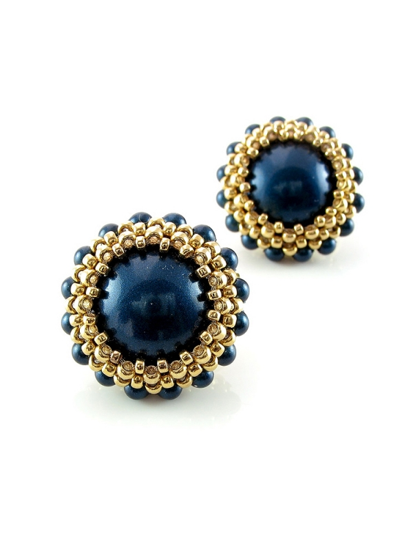 Full Moon Blue - earrings