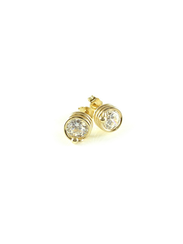 Stud earrings - Ichiban - Busted Crystal Clear