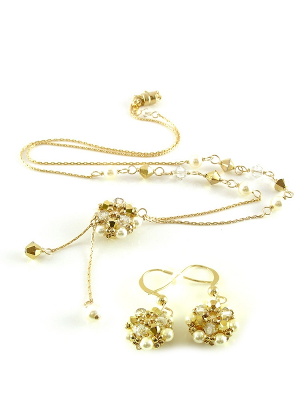 Daisies Aurum set - necklace and earrings