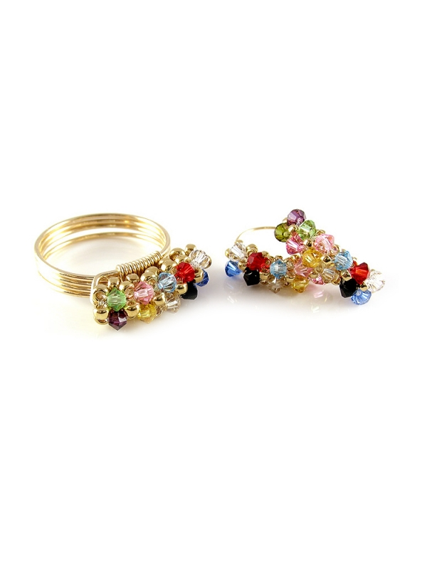 Set ring and earrings by Ichiban - Primetime Multicolor