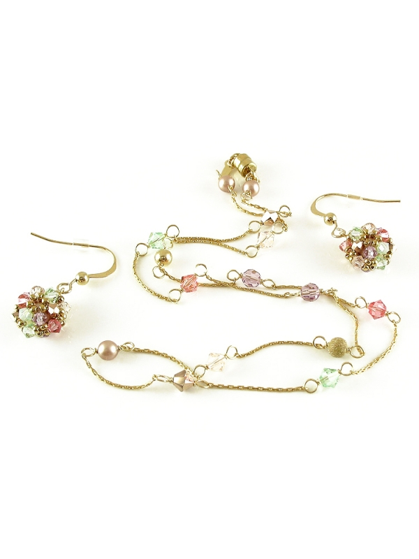 Spring Mood set - necklace and earrings