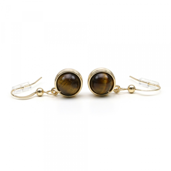 Busted Gemstone Tiger's Eye - earrings